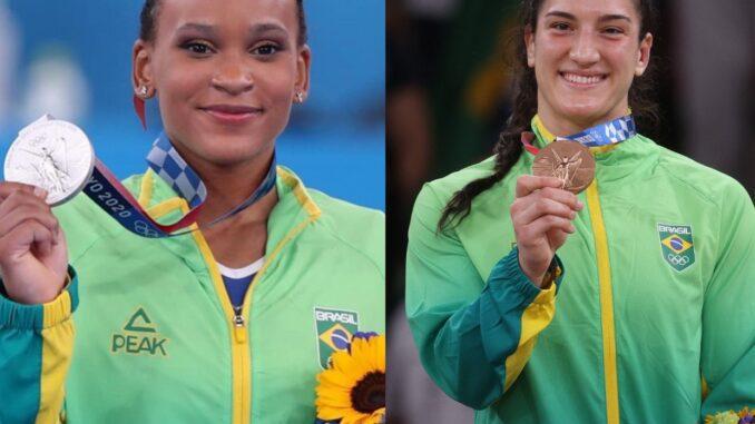 Rayssa Leal Rebeca Andrade e Mayra - Reprodução: Google