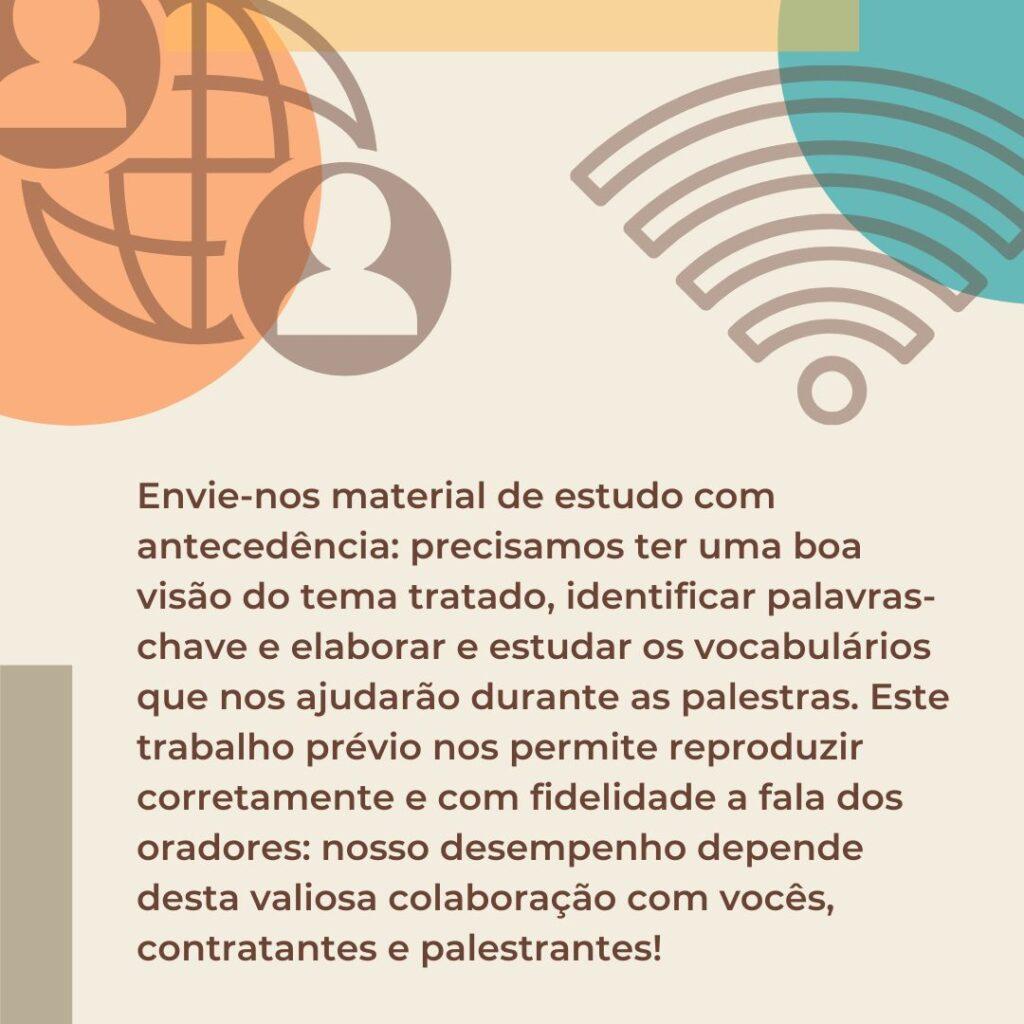 Parte 2 - Ajude os intérpretes a fazer um bom trabalho!