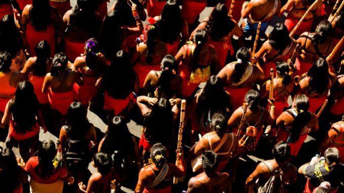 Foto - Lia Bianchini/ Cobertura Colaborativa Marcha das Mulheres Indígenas